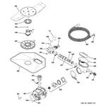 GE PDWT380R30SS motor-pump mechanism diagram