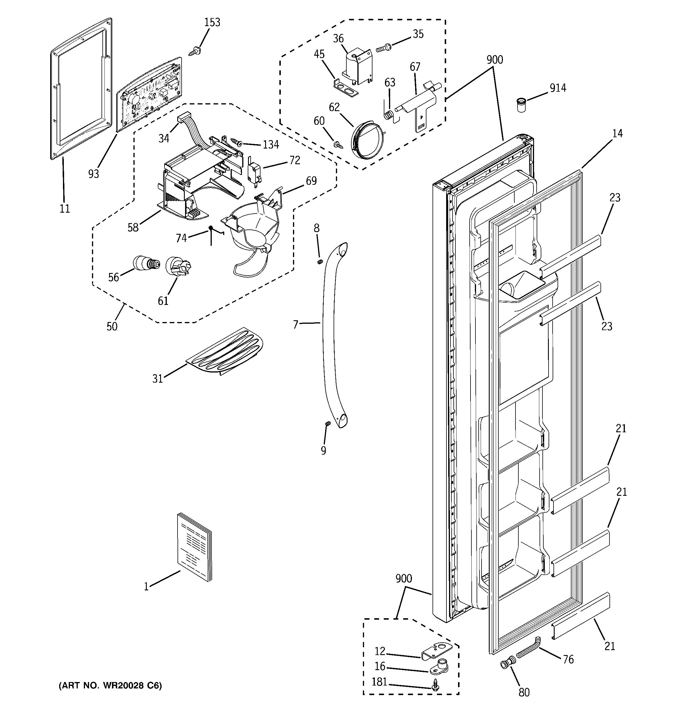 Hotpoint Ctx21dabrrww Wiring Diagrams Schematics Diagram Refrigerator Schematic Ge Model Gsh25iszbss Side By Genuine Parts