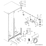 GE GSH25JSXBSS fresh food section diagram