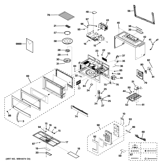 GE HVM1750DP2CC microwave diagram