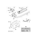 GE DISR333FG9WW gas valve & burner assembly diagram