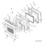GE PCB920ST1SS door diagram