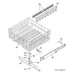 GE GDWT768V50SS upper rack assembly diagram