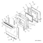 GE JB400DP5WW door diagram