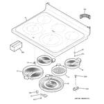GE JB705DT1BB cooktop diagram
