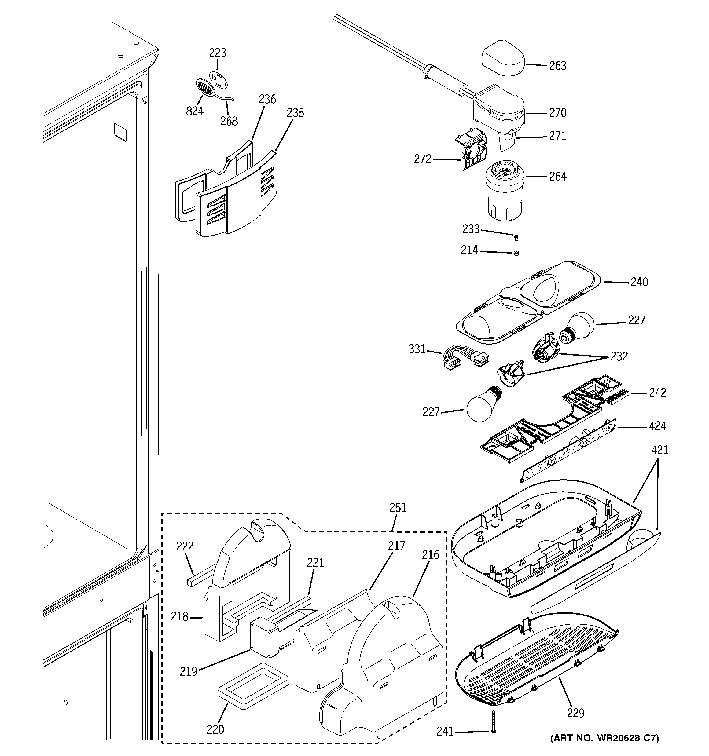 GE PGSS5NFZHSS fresh food section diagram