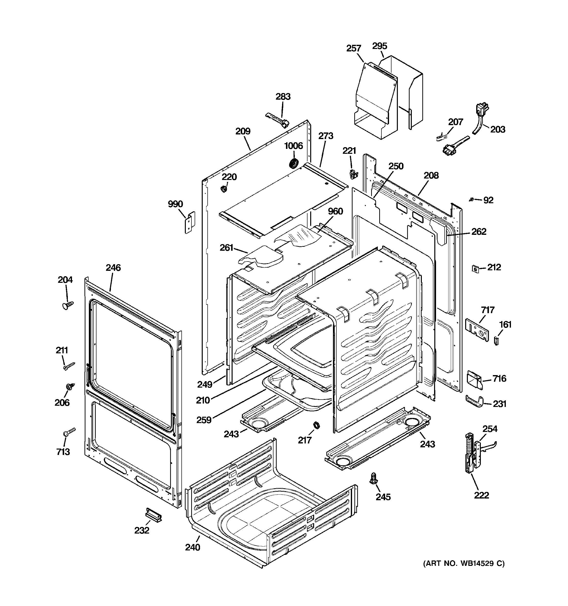 GE JGAS02SEN4SS body parts diagram