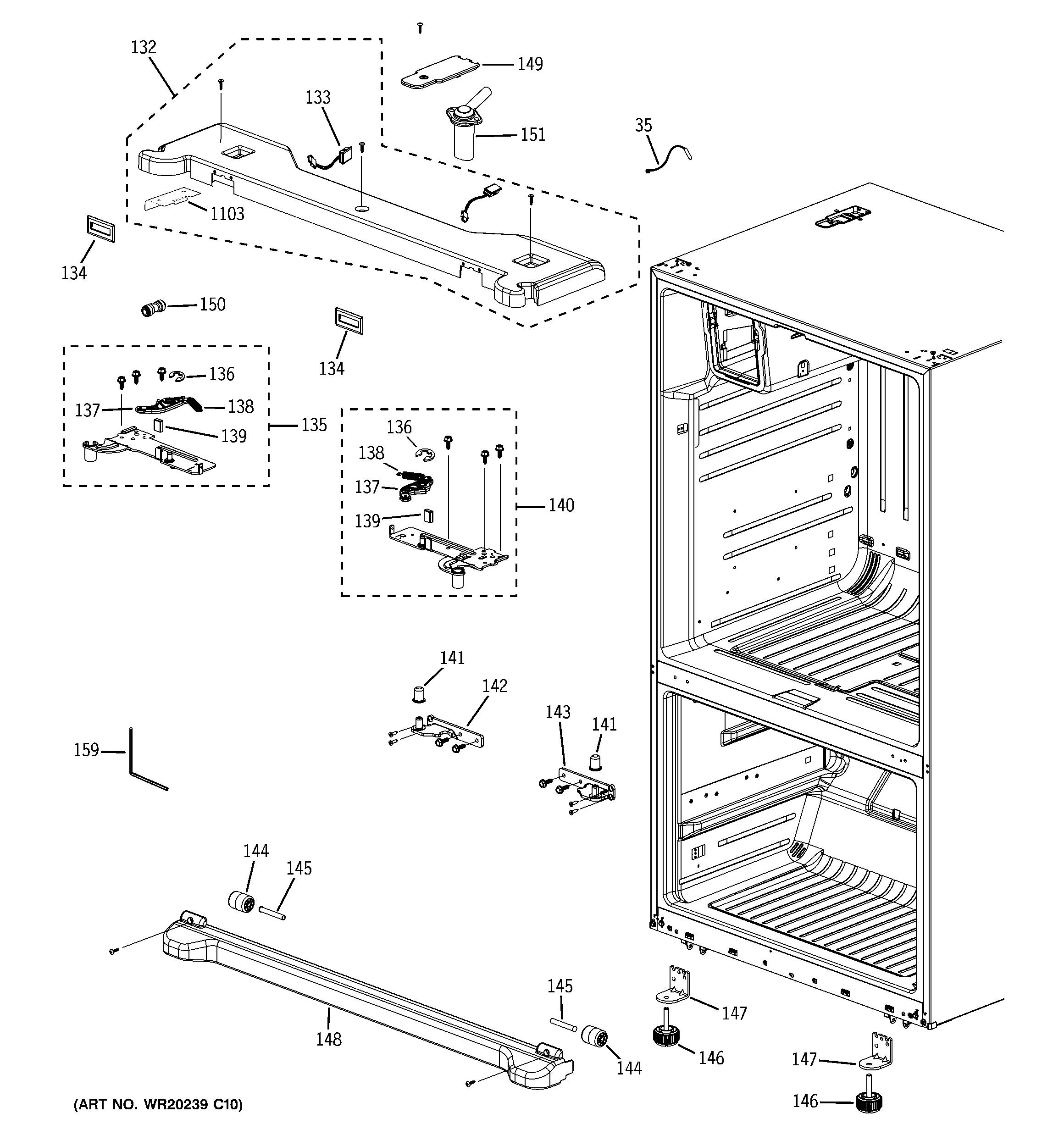 Ge Model Pfss6pkxess Bottom Mount Refrigerator Genuine Parts 25 Schematic Case
