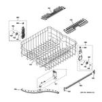 GE GDT550HGD1WW upper rack assembly diagram