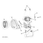 GE GTDS825ED0MC blower & motor diagram
