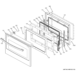 GE JK5500DF1WW lower door diagram
