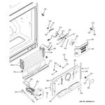 GE GDE23ETEBRWW freezer section diagram