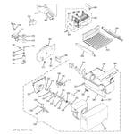 GE GSH25JGDBWW ice maker & dispenser diagram