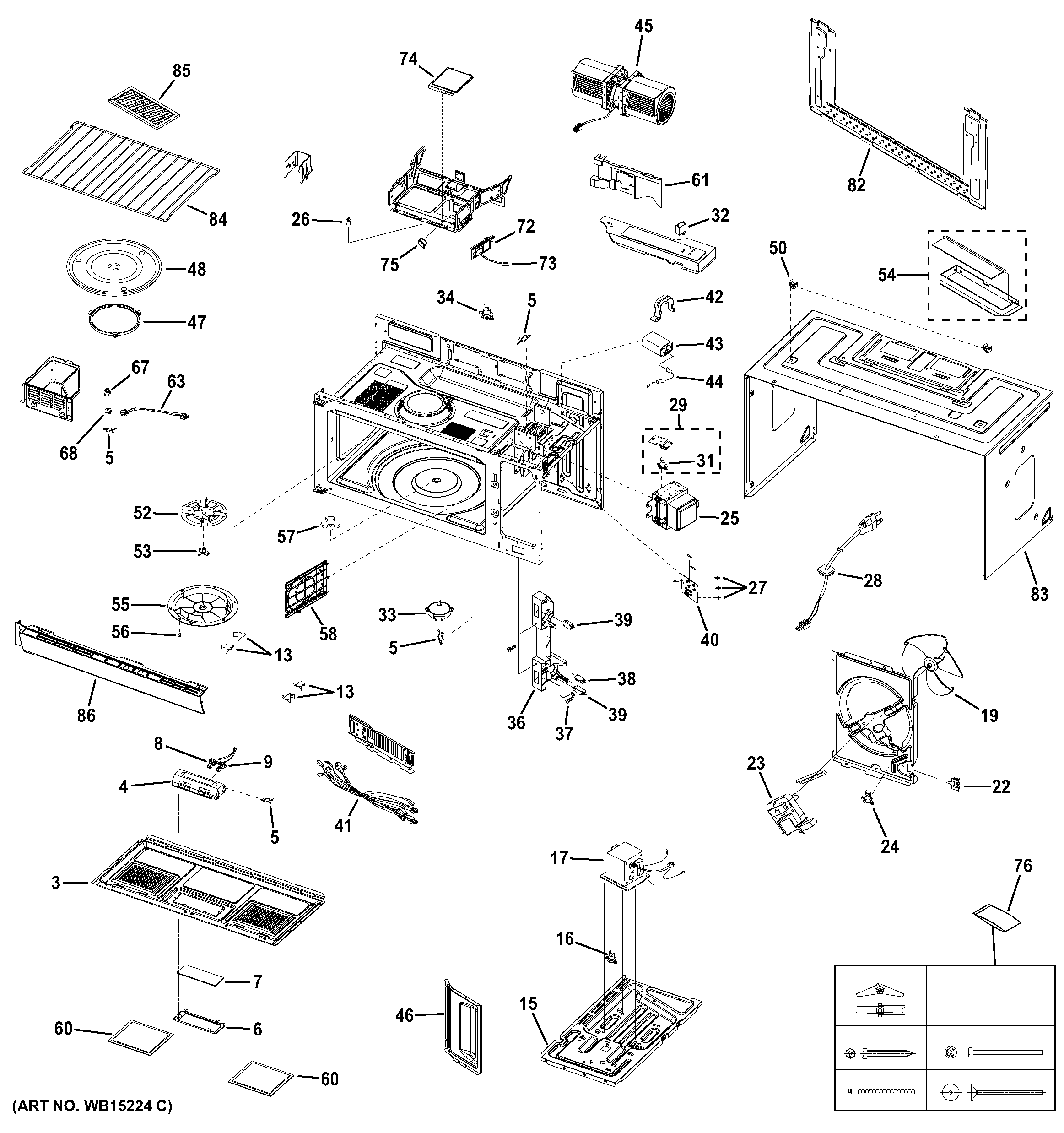 GE PNM9196SF1SS oven cavity parts diagram