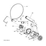GE GFDN240GL0WW blower & motor diagram