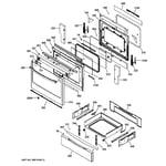 GE JGS650SEF2SS door & drawer parts diagram