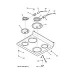 GE JB350DF2CC cooktop diagram