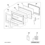 GE JVM1540SM4SS door parts diagram