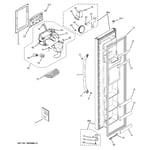 GE GSL25JGDBLS freezer door diagram