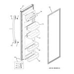 GE GSS25ETHBBB fresh food door diagram