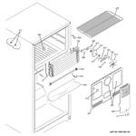 GE GTS16DTHCRWW freezer section diagram