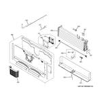 GE PYE23PSDDSS freezer section diagram