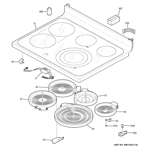 GE PB930DH3BB cooktop diagram
