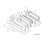 GE PB970SP1SS upper door diagram