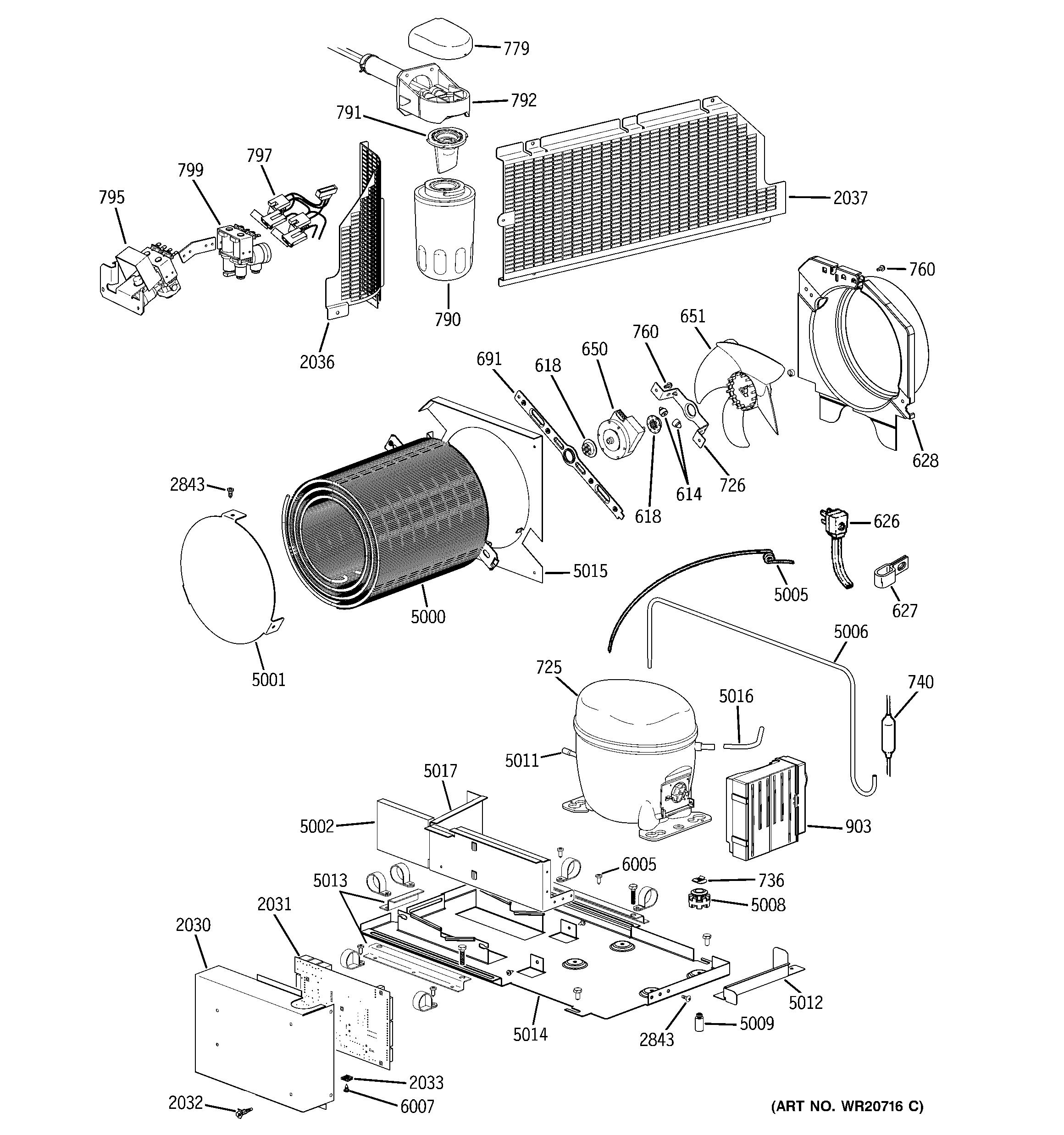 Ge  Freezer X Series  Machine compartment