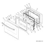 GE PT9550DF5BB lower door diagram