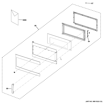GE JVM7195DF1BB door parts diagram