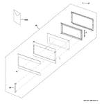 GE PVM9195DF1BB door parts diagram