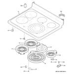 GE PB950SF4SS cooktop diagram
