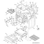 GE JB250DF5BB body parts diagram