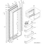 GE ZISB360DHA fresh food door diagram