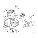 GE GDT580SGF5WW sump & motor mechanism diagram