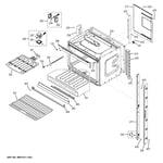 GE JT5500SF3SS upper oven diagram