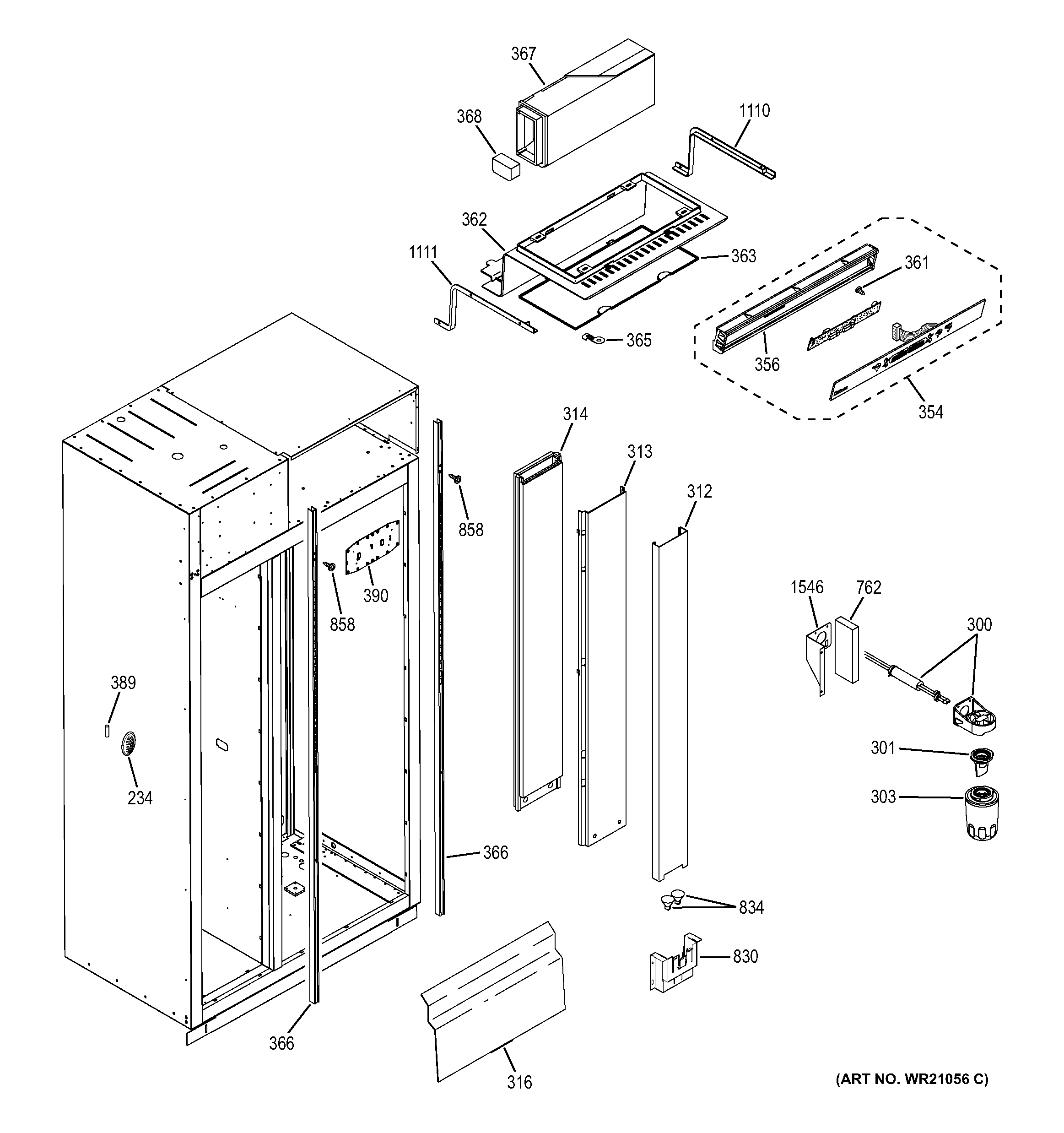 GE ZISS480NXDSS fresh food section diagram