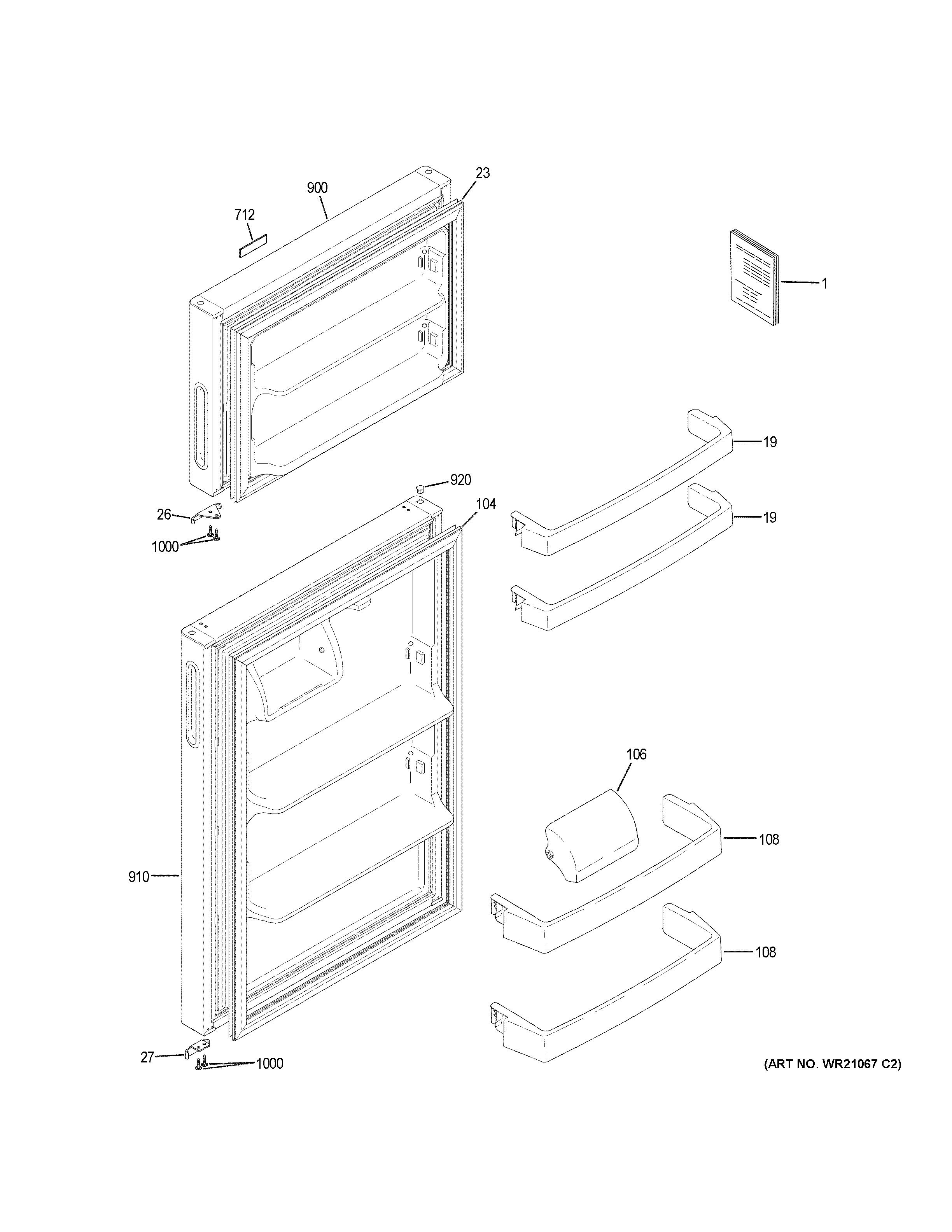 Hotpoint  Refrigerator  Doors