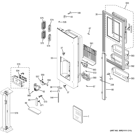GE GFE24JSKBFSS dispenser door diagram
