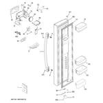 GE DSE25JMHKCES freezer door diagram