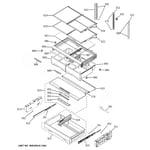 GE CWE23SP2MDS1 fresh food shelves diagram