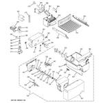 GE GSS22WGPECC ice maker & dispenser diagram
