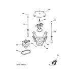 GE WJSR2070B3CC suspension, pump & drive components diagram