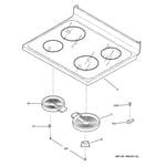 GE JBP65BK4BB cooktop diagram