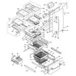 GE PDS22MISABB doors & shelves diagram