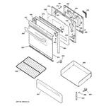 GE JGBP25WEL3WW door & drawer parts diagram