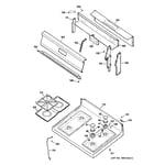 GE JGBS16WEP1WW control panel & cooktop diagram