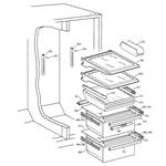 GE TFX25VPBBAA fresh food section diagram