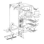 GE TFT22JABCAA freezer section diagram
